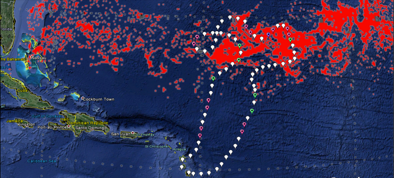 Trajet Expedition Septieme Continent Mai 2014 Atlantique Nord