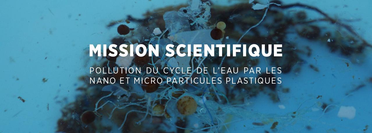 pollution du cycle de l'eau par les nano et micro particules plastiques